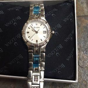 Bulova watch with diamonds